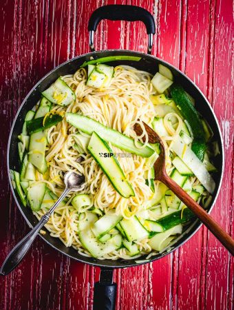 Lemon Spaghetti with Raw Zucchini featured image.