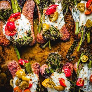 Roasted Broccolini Sheet Pan Dinner featured image.