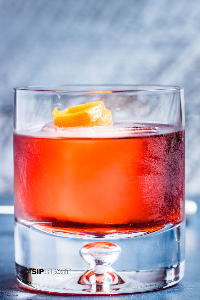 Picture of completed negroni
