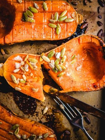 Butternut Squash With Brown Sugar And Pumpkin Seeds