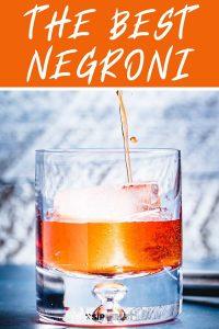 The best negroni Pinterest image.