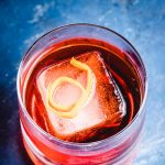 Negroni recipe Pinterest image.