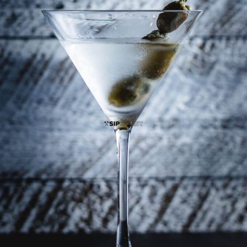 Featured image for Classic Martini with blue cheese olives.