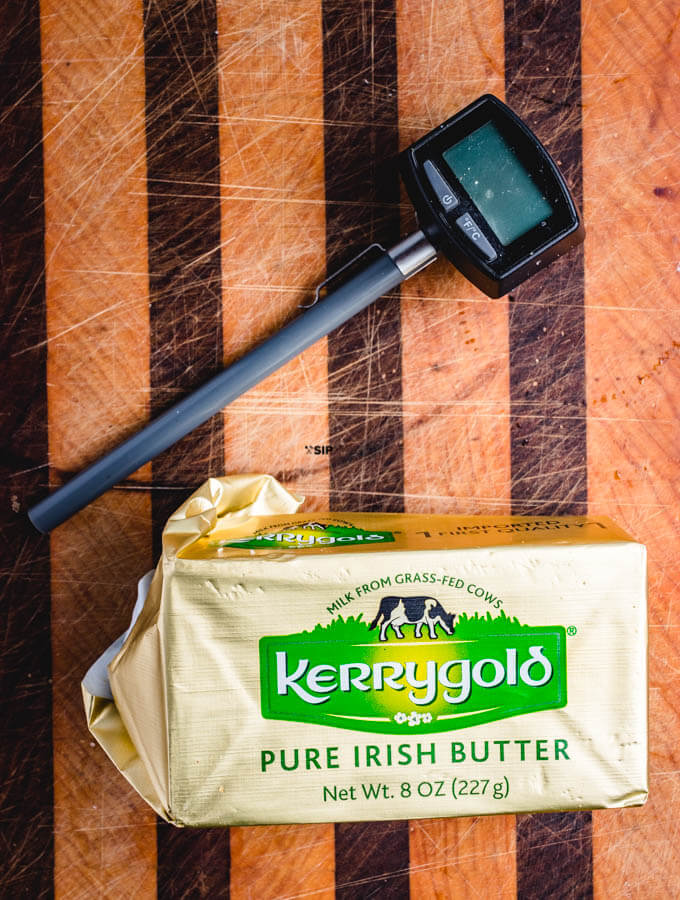 Instant read thermometer and kerry gold butter.