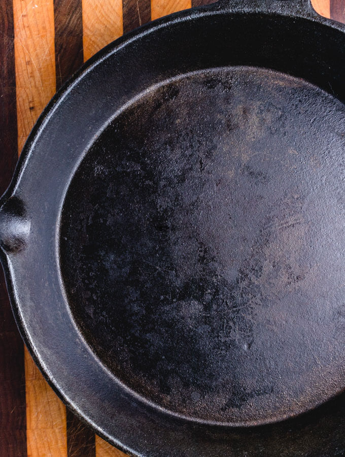 "A 12"" cast iron pan"