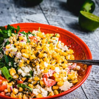 Mexican Street corn salad featured image.