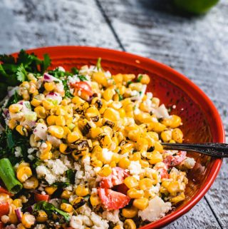 Mexican street corn salad featured image