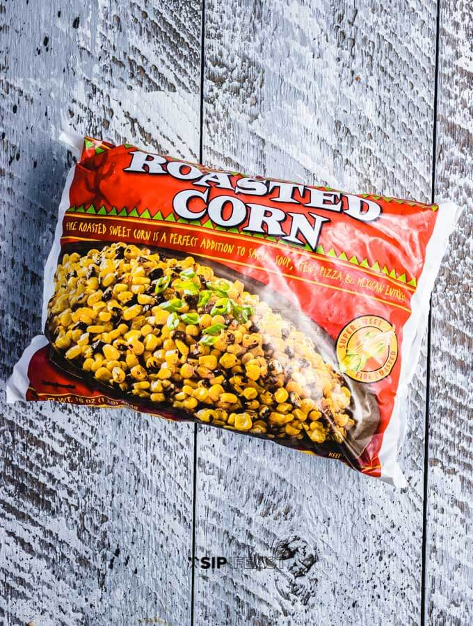 Trader Joe's fire roasted corn.