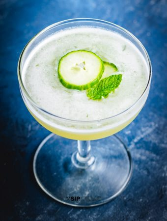 Cucumber Martini With Melon And Mint