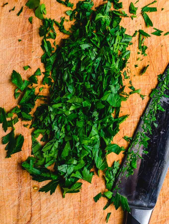 Chopped Parsley.