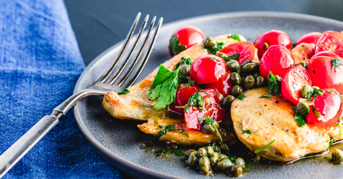 Italian Chicken With Capers And Cherry Tomato Sauce