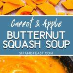 Butternut squash soup Pinterest image.