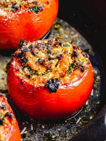 Easy Stuffed Tomatoes With Ricotta Salata And Parsley