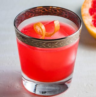 Grapefruit gin cocktail featured image.