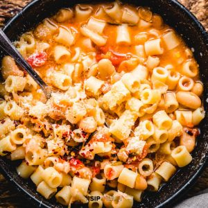 Pasta fagioli featured image.
