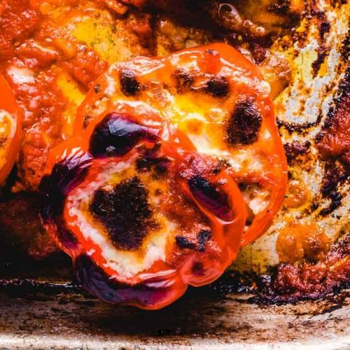 Stuffed Italian peppers featured image.