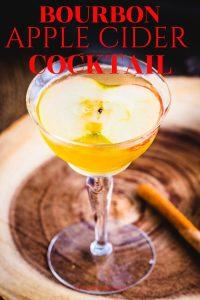 Apple cider cocktail Pinterest image.