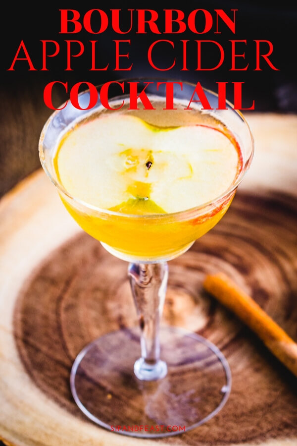 This apple cider cocktail with maple syrup and bourbon is the perfect winter cocktail recipe.  Has just the right amount of maple syrup to balance out the bourbon for a delicious sweet cocktail. #drinks #cocktails #bourbon #cider #mixeddrinks #cocktailrecipes