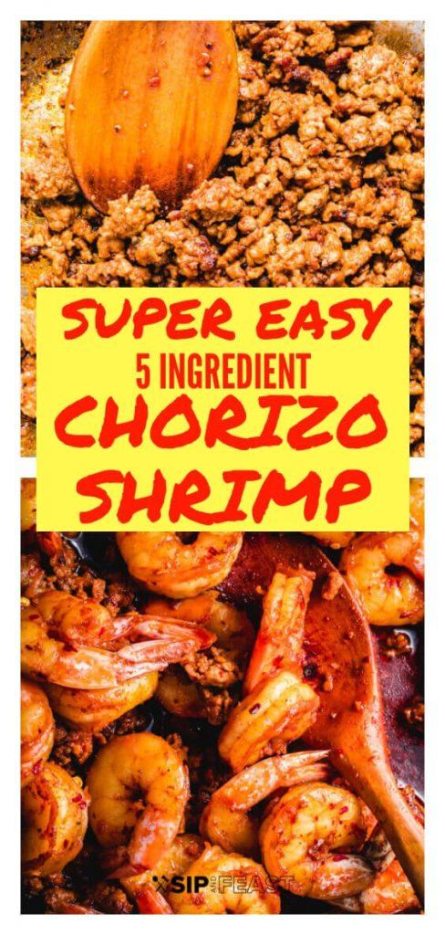 Chorizo shrimp tapas Pinterest image.