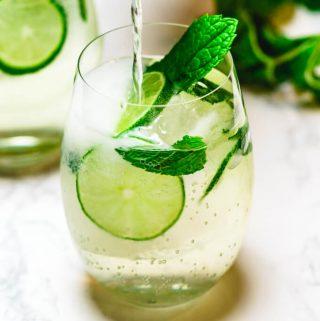 Hugo spritz cocktail featured image.