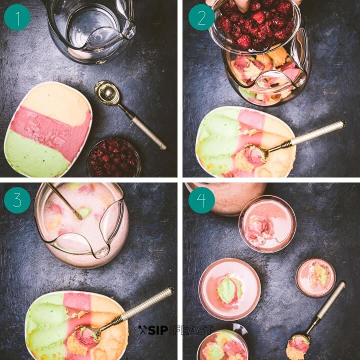 Sherbet Punch process shot collage.