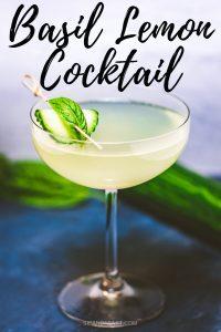 Limonata basil cocktail Pinterest image.