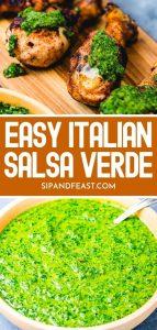 Italian salsa verde Pinterest image.