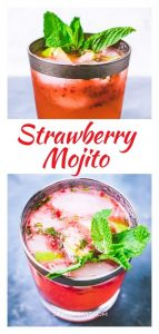 Strawberry mojito Pinterest image.