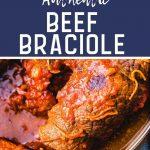Beef braciole Pinterest image.