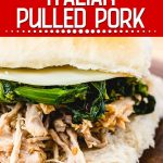 Instant Pot Italian pulled pork Pinterest image.