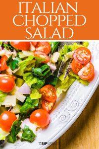 Italian chopped salad Pinterest image.
