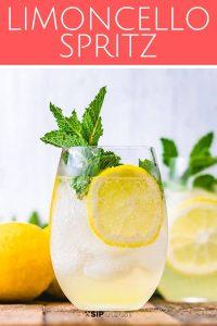 Limoncello Spritz Pinterest image.