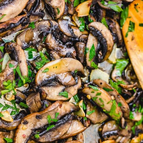 Easy sauteed mushrooms featured image.