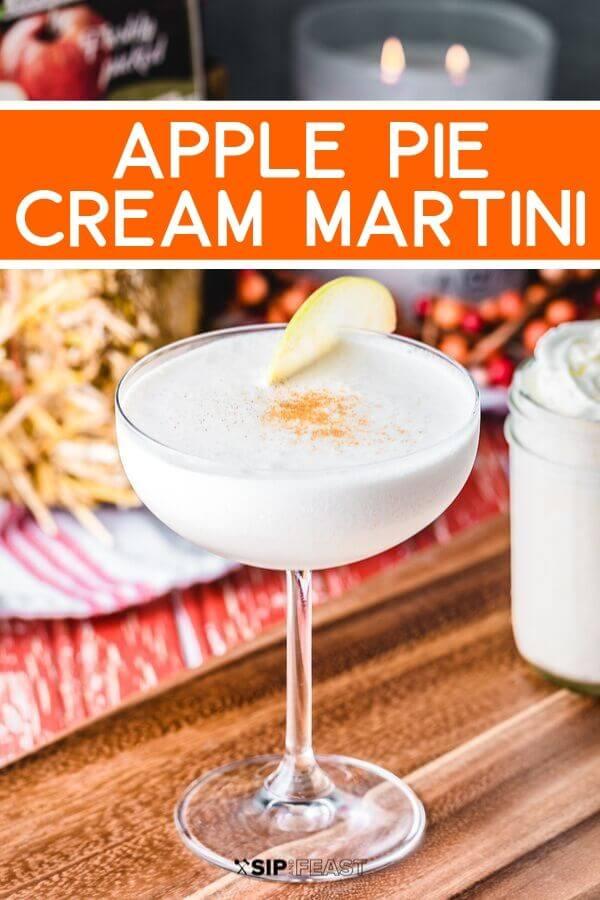 Apple pie martini Pinterest image.