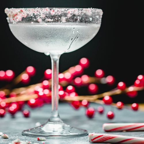 Candy Cane Cocktail featured Image.