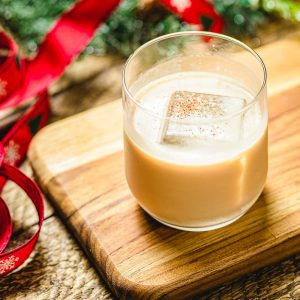 Eggnog white Russian featured image.