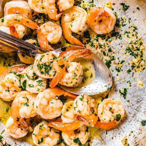 Shrimp scampi featured image.