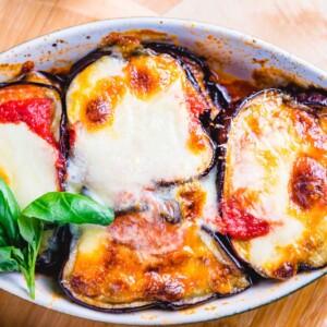 Eggplant parmigiana featured image.