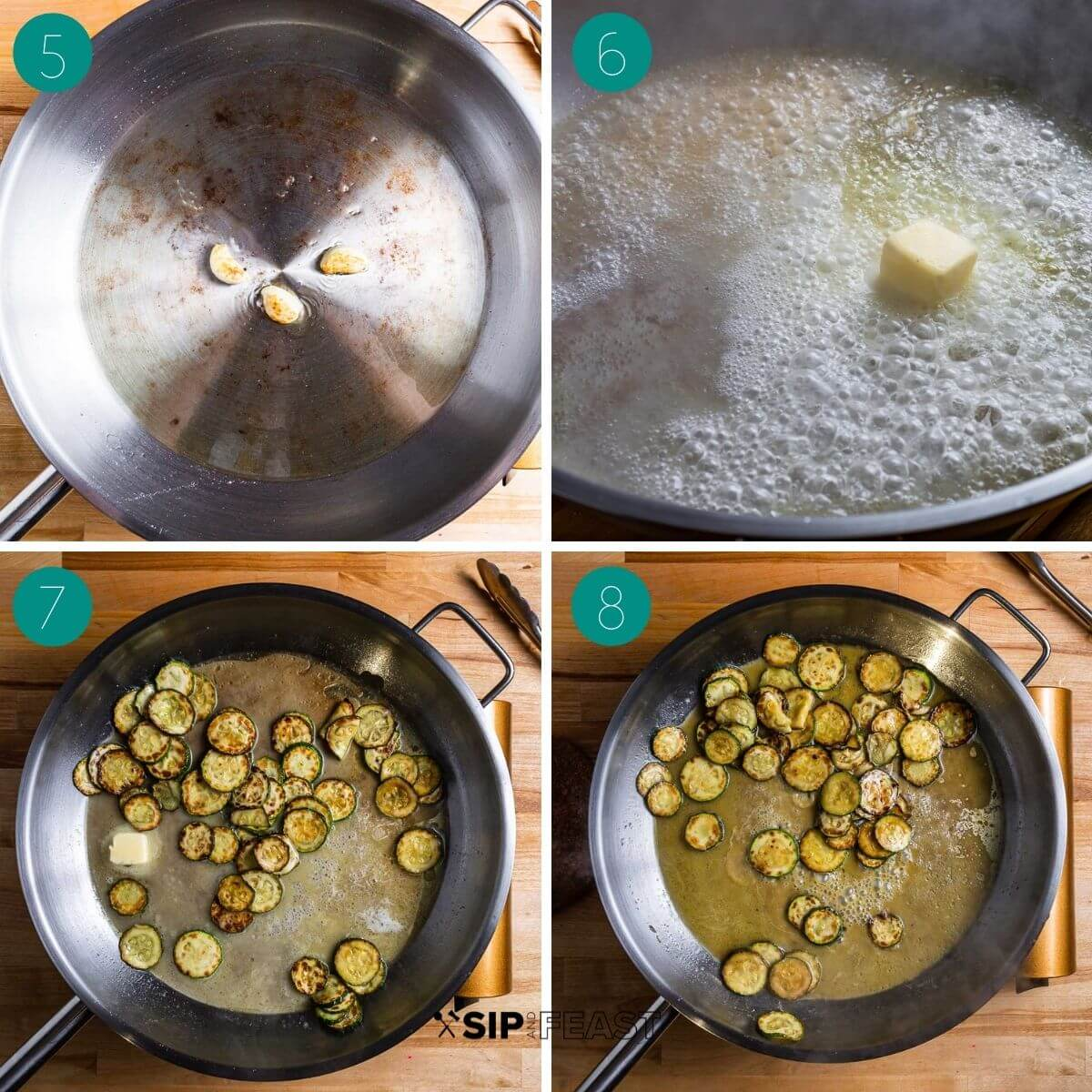 Recipe process shot collage group number two.