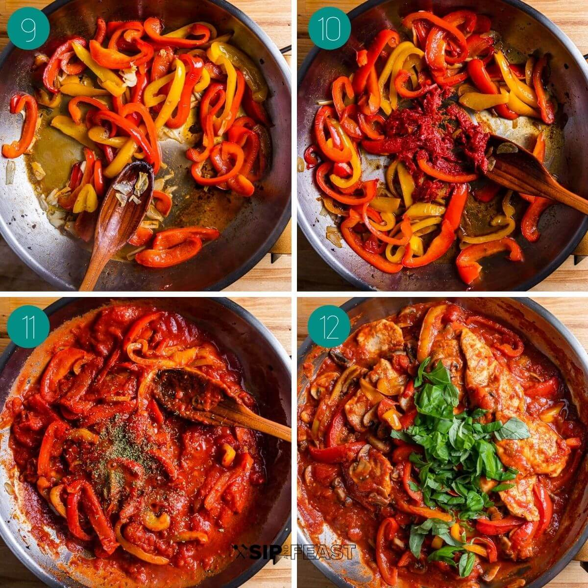 Recipe process shot collage group number three.