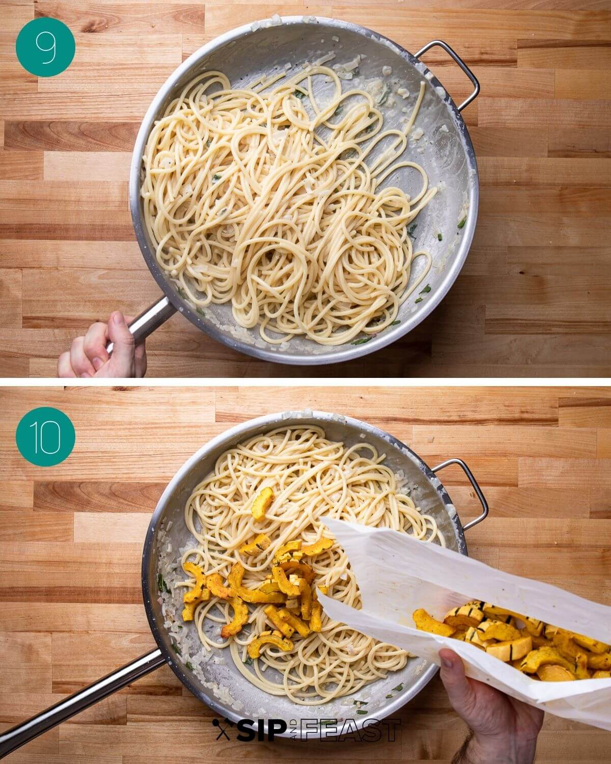 Recipe process shot collage group number five.