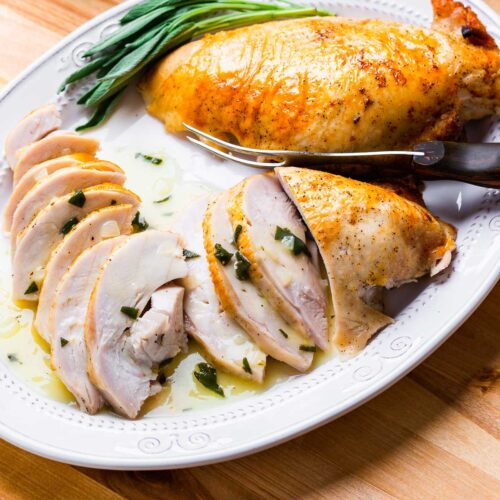 Dry brined turkey breast featured image.