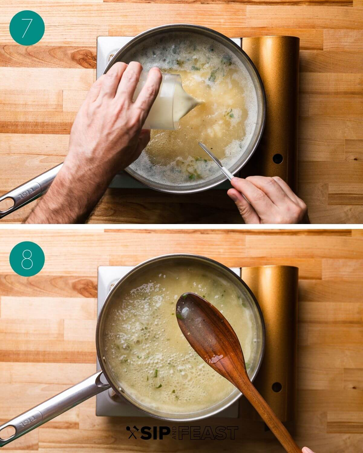 Recipe process shot collage group number four.