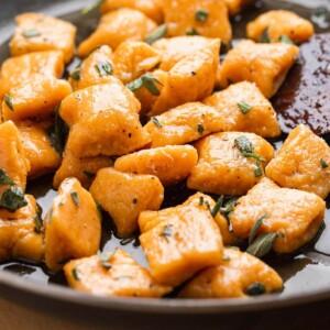Sweet potato gnocchi recipe featured image.